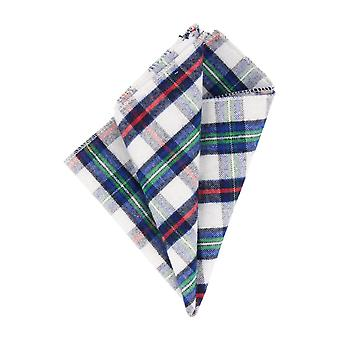 Andrews & co. handkerchief Hanky Plaid white blue red green