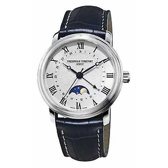 Frederique Constant Mens Classic Moonphase Black Leather FC-330MC4P6 Watch