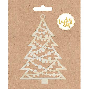 Lucky Dip bois Flourish-Christmas Tree 4.75