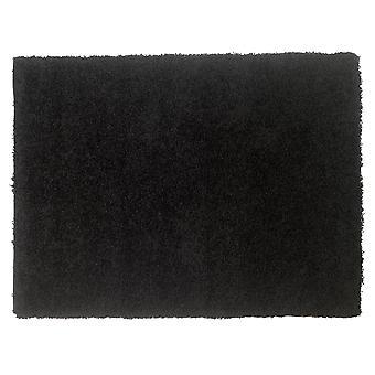 Black Shaggy Area Rug Venice