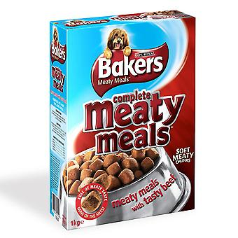 Bakers Complete Adult Meaty Meals Beef 1kg