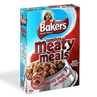 Bagere komplet Adult kødfulde måltider oksekød 1kg