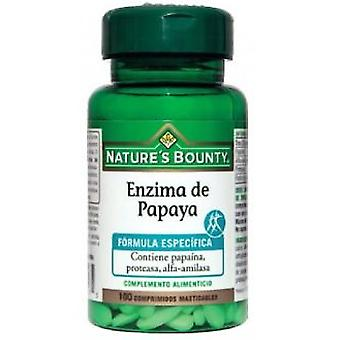 Nature's Bounty Papaya Enzyme 100 Chewable Tablets