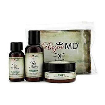 Razor Md RX barbering Trio (urteblanding): Indlæg barbering Lotion 60ml + Pre Shave olie 30ml + Shave Cream 60ml - 3stk