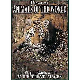 Discover Animals Of The World set of 52 playing cards + jokers    (gib)