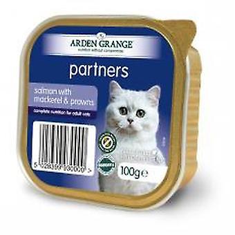 Arden Grange partnere laks med makrel & rejer 100g (Pack af 16)