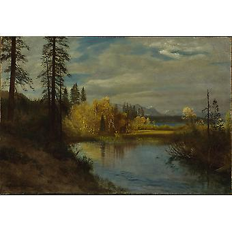 Albert Bierstadt - Outlet at Lake Tahoe Poster Print Giclee