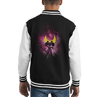 Sailor Moon Pink Luna Peace Kid's Varsity Jacket