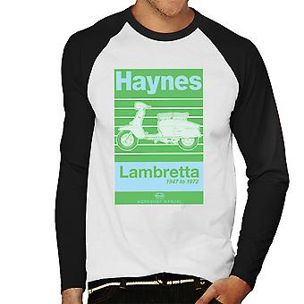 Haynes Owners Workshop Manual Lambretta 47 To 72 Men's Baseball Long Sleeved T-Shirt