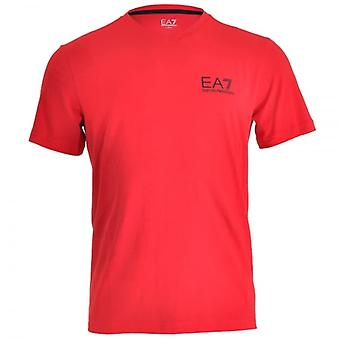 EA7 Emporio Armani Train Core ID Logo V-Neck T-Shirt, Racing Red, Large
