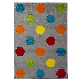 Brights Hex Multicoloured Rugs