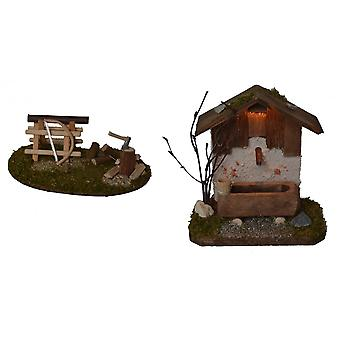 Nativity accessories stable Nativity set well with lighting hack space