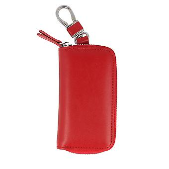 7details key case leather pouch Keycase red keychain