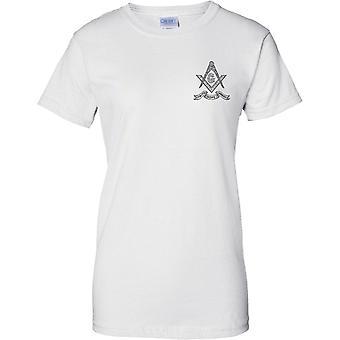 Tro hopp kärlek - frimurarnas Emblem - damer bröst Design T-Shirt