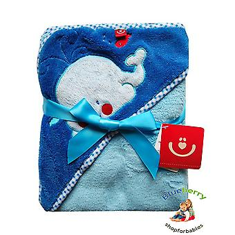 BlueberryShop 3D Embroidered Microplush HOODED Bath Pool Beach TOWEL Baby Kid Todler Gift (30