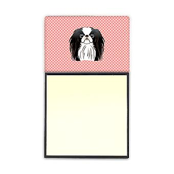 Damero rosa Chin japonés Refiillable Nota adhesiva soporte or Postit Nota Di