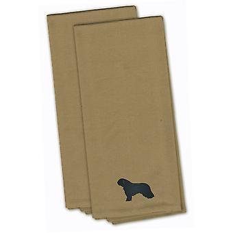 Perro de agua Español Tan bordado juego de toalla de cocina de 2