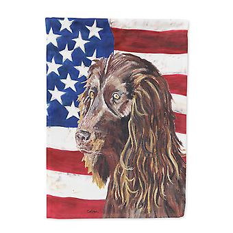 Carolines Treasures  SC9518-FLAG-PARENT Boykin Spaniel USA American Flag Flag