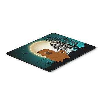 Halloween Scary Chow Chow Red Mouse Pad, Hot Pad or Trivet