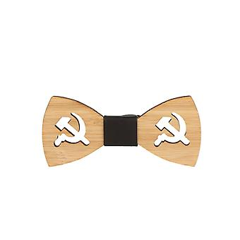 Snobbop fly Woody Russia bamboo wood bow tie hook closure