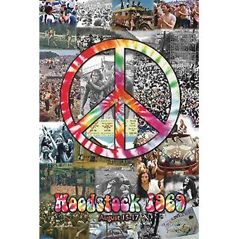 Woodstock Collage Poster Poster Print