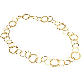 GEMSHINE gold plated ladies necklace in high-quality Matt processing 90 cm long. Adjustable chain. Made in Madrid, Spain. Delivered in the elegant jewelry with gift box.