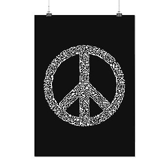 Matte or Glossy Poster with Peace Hipster Vintage | Wellcoda | *d2381