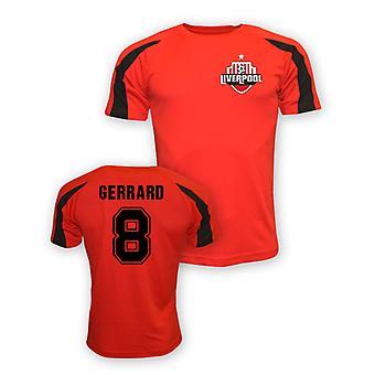 Steven Gerrard Liverpool sportowe szkolenia Jersey (czerwony)