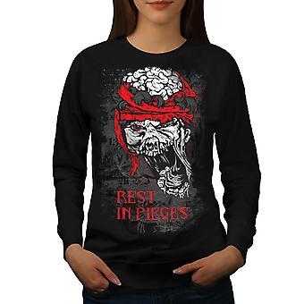 Rest In Pieces Zombie vrouwen BlackSweatshirt | Wellcoda