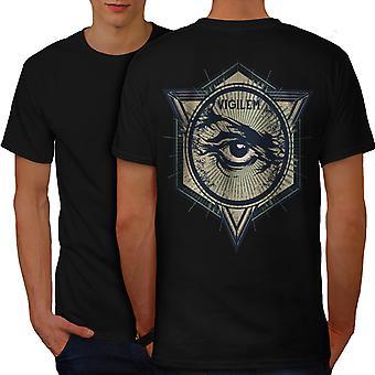 Vintage Illuminati Men BlackT-shirt Back   Wellcoda