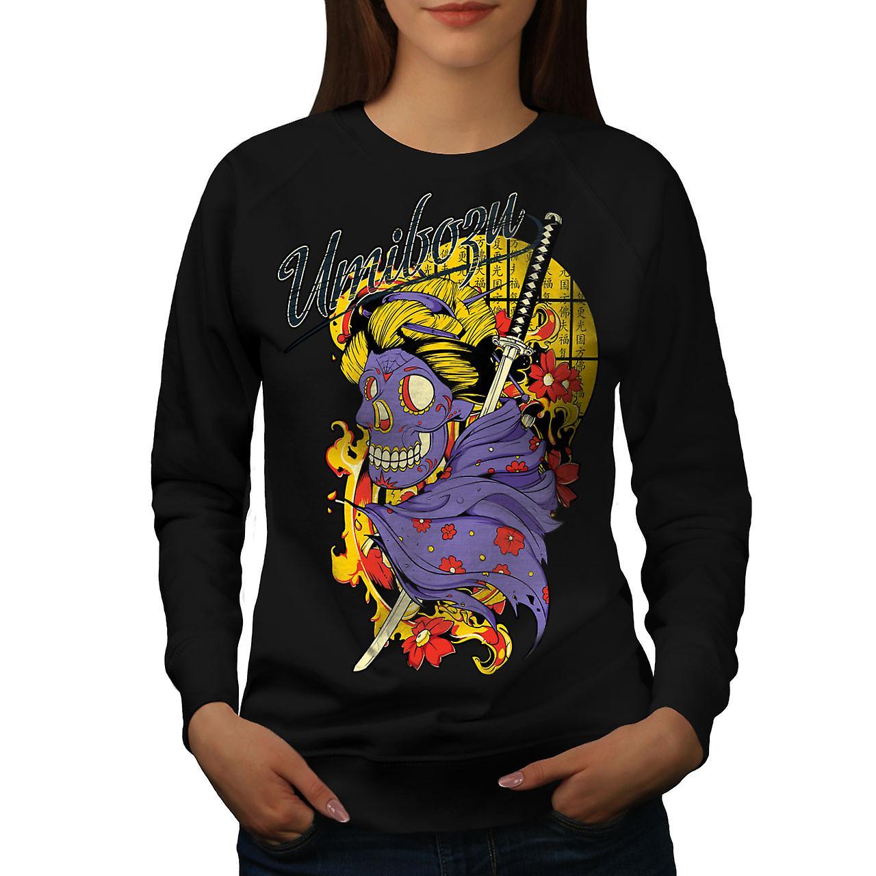 Umibozu Spirit Cool Women BlackSweatshirt | Wellcoda