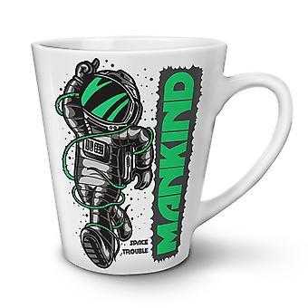 Mankind Astronaut NEW White Tea Coffee Ceramic Latte Mug 17 oz   Wellcoda