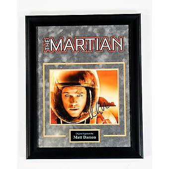 The Martian - Signed by Matt Damon - Framed Artist Series