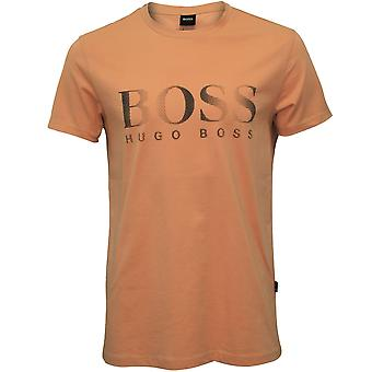 Hugo Boss Innovation logotyp UV-absorberande Crew-Neck T-Shirt, mjuk rosa
