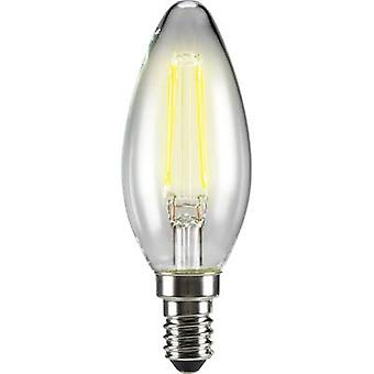 LED E14 vela 4 W = 40 W Warm white (Ø x L) 35 mm x 99 mm EEC: base-congelador a ++ Sygonix filamento 1 PC