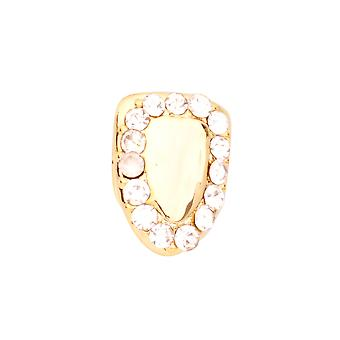 Iced 9x6mm Bling Grill - One size fits all Zahnaufsatz gold