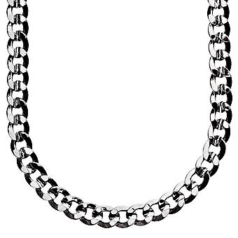 Iced out bling hip hop chain - CUBAN 8 mm black