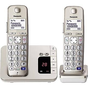 Cordless Big Button Panasonic KX-TGE222 Duo Answerphone, Hands-free