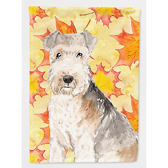 Carolines Treasures  CK1836GF Fall Leaves Lakeland Terrier Flag Garden Size