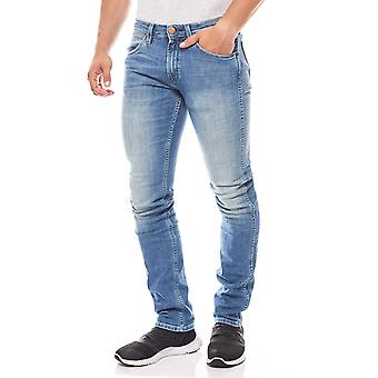 Wrangler mens jeans Bostin classic straight blue stretch pants