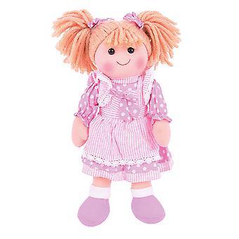 Bigjigs Toys weichen Plüsch Anna (34cm) Puppe Teddy Kuscheltier