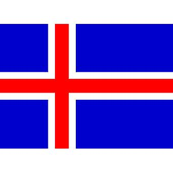 Iceland Flag 5ft x 3ft With Eyelets For Hanging