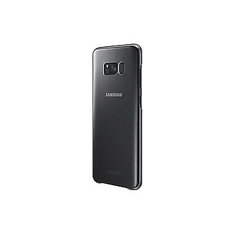 Samsung EF-QG955CB hard plastic cover case, transparent black for G955F Galaxy S8 plus