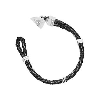 Guess mens bracelet stainless steel leather black UMB21516-S