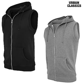Urban classics light fleece sleeveless Zip Hoodie TB255