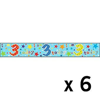 Simon Elvin Foil Banner Age 3 x 6