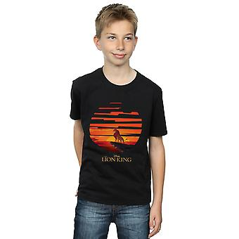 Disney Boys The Lion King Mufasa Sunset T-Shirt