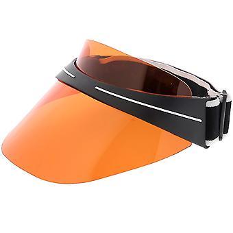Oversize skjold visir Hat solbriller elastisk justerbar 130mm