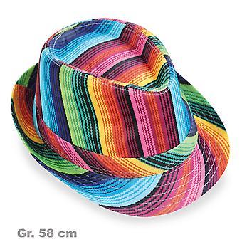 Trilby colorful Rainbow Rainbow 70s
