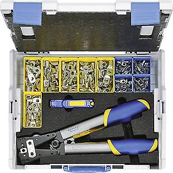 Klauke LBOXX65B Crimper set 223-piece Spade terminals, Spade terminals 6 up to 50 mm² Incl. cable cutter, Incl. wire cutter, Incl. crimp cable lug set and